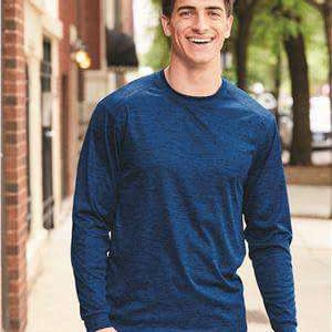 Badger Sport Men's Tonal Blend Long Sleeve T-Shirt - 4174