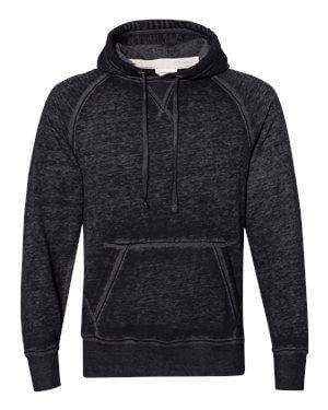 J America Men's Zen Fleece V-Notch Hoodie Sweatshirt - 8915