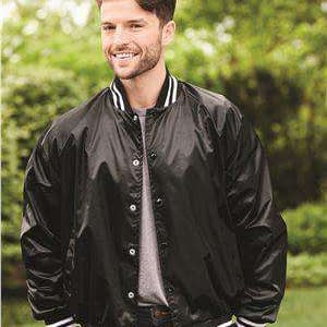 Augusta Sportswear Men's Satin Baseball Jacket - 3610