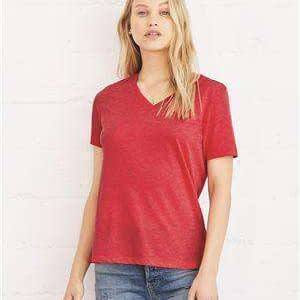 Bella + Canvas Women's Relaxed Jersey V-Neck T-Shirt - 6405
