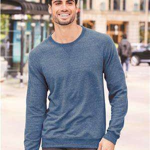 Jerzees Men's Terry Raglan V-Notch Sweatshirt - 91MR