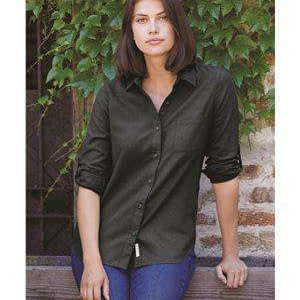 Weatherproof Women's Spread Collar Pocket Flannel Shirt - W198306