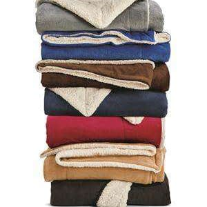 Alpine Fleece Oversized Sherpa Blanket - 8726