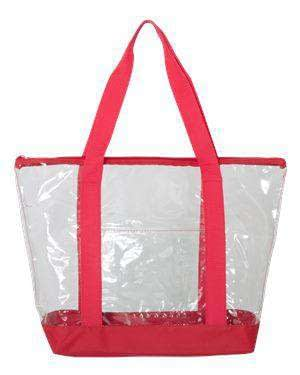 Liberty Bags Front Pocket Clear Boat Tote Bag - 7009