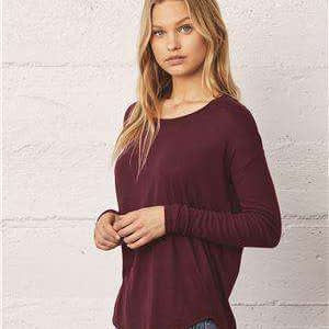 Bella + Canvas Women's Flowy Long Sleeve T-Shirt - 8852
