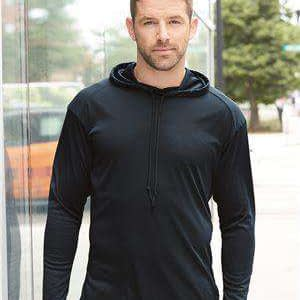 Badger Sport Men's Long Sleeve Hoodie T-Shirt - 4105