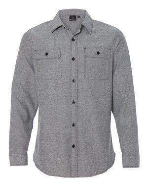 Burnside Men's Pocket Long Sleeve Flannel Shirt - 8200