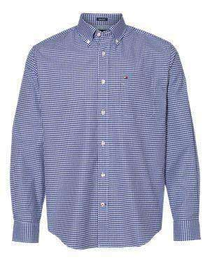 Tommy Hilfiger Men's Gingham Broadcloth Dress Shirt - 13H1863