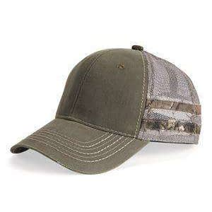 Outdoor Cap Frayed Camouflage Stripes Trucker Cap - HPC400M