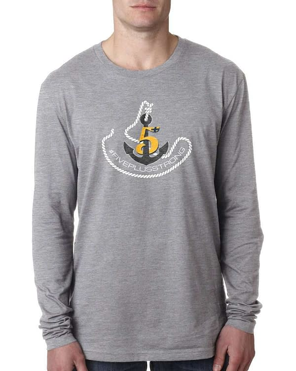 Crossfit Five Plus Anchor Mens Long Sleeve-T