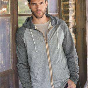Weatherproof Men's Raglan Full-Zip Hoodie Sweatshirt - 198774