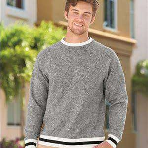 J America Men's Pepper Fleece Stripe Sweatshirt - 8702