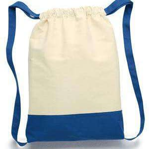 Liberty Bags Contrast Bottom Canvas Cinch Sack - 8876