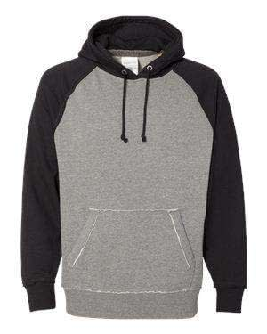 J America Men's Heather Raglan Hoodie Sweatshirt - 8885