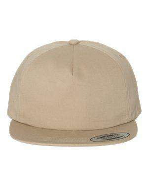 Yupoong Unstructured Five-Panel Snapback Cap - 6502
