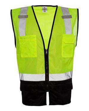 ML Kishigo Men's Black Bottom Mesh Safety Vest - 1509