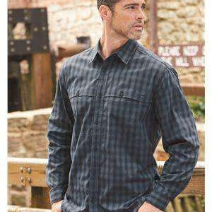 Dri Duck Men's Paseo Plaid Sunblock Work Shirt - 4465