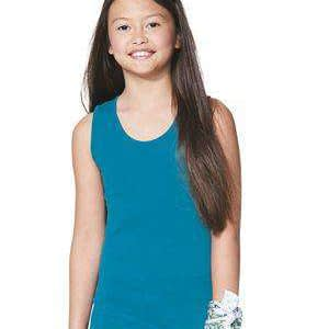 LAT Girl's Jersey Scoop Neck Tank Top - 2690