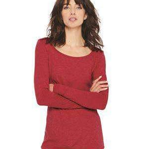 Next Level Women's Long Sleeve Scoop Neck T-Shirt - 6731