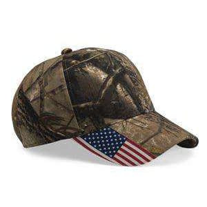 Outdoor Cap US Flag Mid-Profile Camouflage Cap - CWF305