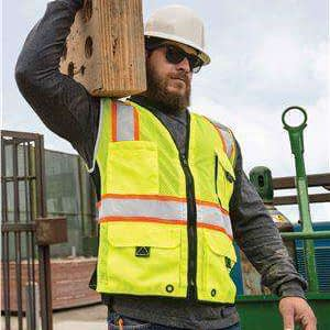 ML Kishigo Men's Heavy Duty Safety Vest - 1514