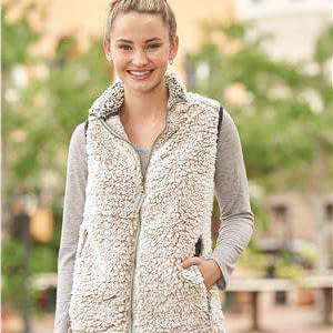 J America Women's Epic Full-Zip Sherpa Vest - 8456