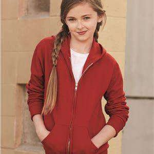 Jerzees Youth Full-Zip Hoodie Sweatshirt - 993BR
