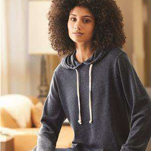 Alternative Women's Raw Edge Hoodie Sweatshirt - 8628