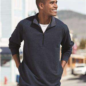 J America Men's Omega Stretch 1/4-Zip Sweatshirt - 8434