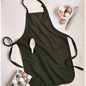 Q-Tees Full-Length Two-Pocket Bib Apron - Q4350
