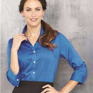 Van Heusen Women's 3/4-Sleeve Baby Twill Dress Shirt - 13V0527