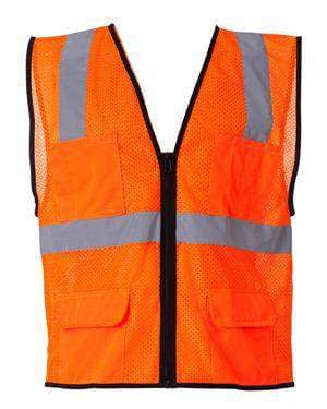 ML Kishigo Men's Six-Pocket Mesh Safety Vest - 1192