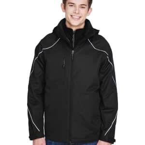North End Men's Angle 3-in-1 Zip-Off Hood Jacket - 88196