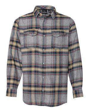 Burnside Men's Long Sleeve Snaps Plaid Flannel Shirt - 8219