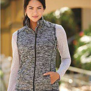J America Women's Cosmic Pocket Full-Zip Fleece Vest - 8625