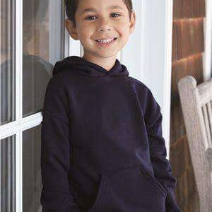 Hanes Youth EcoSmart® Pouch Hoodie Sweatshirt - P473