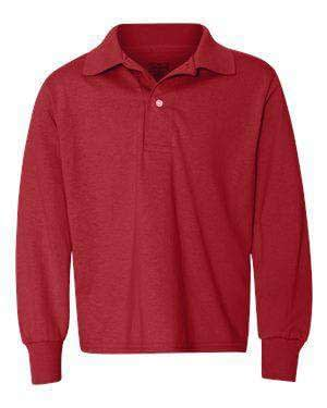 Jerzees Youth SpotShield™ Long Sleeve Polo Shirt - 437YLR