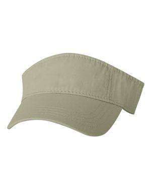 Valucap Pre-Curved Washed Twill Visor - VC500