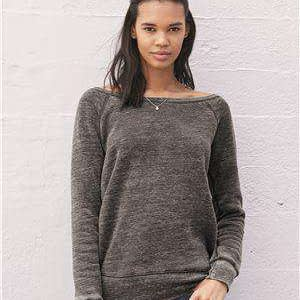 Bella + Canvas Women's Fleece Wide-Neck Sweatshirt - 7501