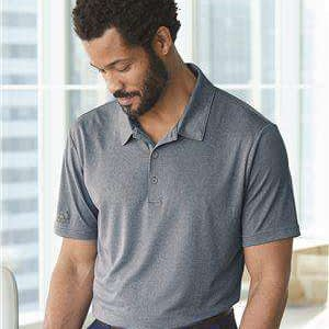 Adidas Men's Heathered Three-Button Polo Shirt - A240