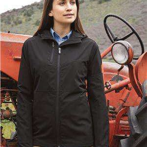 Dri Duck Women's Ascent Hoodie Soft Shell Jacket - 9411