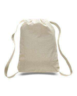 Q-Tees Sport Canvas Cinch Sack - Q125700