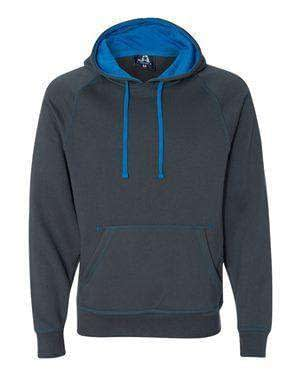 J America Men's Contrast Color Lined Hoodie Sweatshirt - 8883