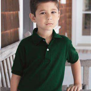 Hanes Youth EcoSmart® Jersey Polo Shirt - 054Y