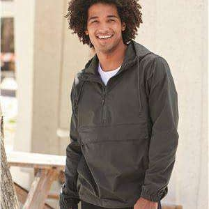 Independent Trading Men's Scuba Neck Windbreaker Anorak - EXP94NAW