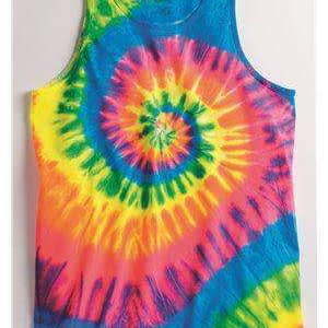 Dyenomite Unisex Color Spiral Tie-Dye Tank Top - 420MS
