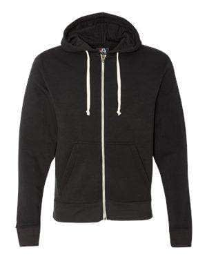 J America Men's Tri-Blend Full-Zip Hoodie Sweatshirt - 8872