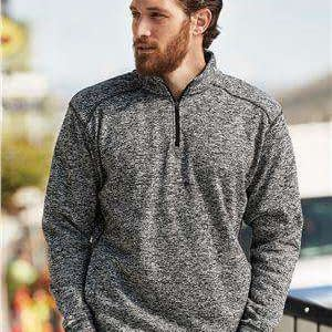 J America Men's Fleece Pocket 1/4-Zip Sweatshirt - 8614