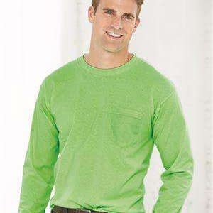 Bayside Men's USA-Made Pocket Long Sleeve T-Shirt - 8100