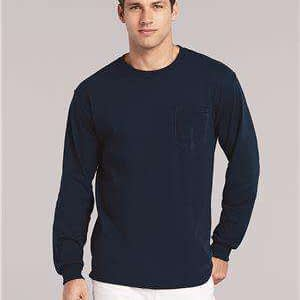 Gildan Men's Pocket Long Sleeve T-Shirt - 2410